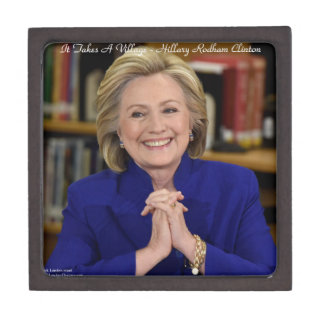Boîtes À Souvenirs De Première Qualité Hillary Clinton il prend un cadeau de village