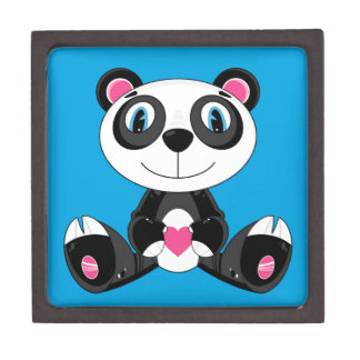 Boîtes À Souvenirs De Première Qualité Ours panda mignon de Valentine de bande dessinée