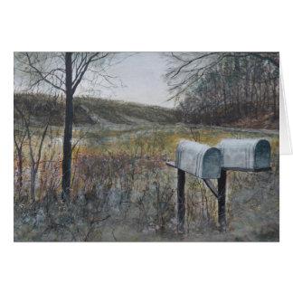 Boîtes de courrier carte de vœux
