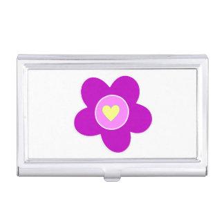 Boîtier Pour Cartes De Visite Amusement de fleur