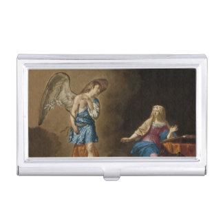 Boîtier Pour Cartes De Visite Ange et Mary d'annonce