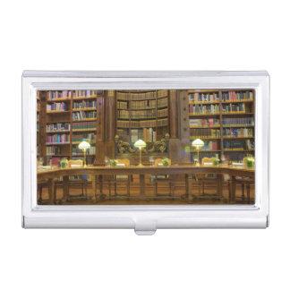 Boîtier Pour Cartes De Visite Bibliothèque historique antique