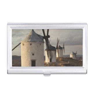 Boîtier Pour Cartes De Visite Consuegra, moulins à vent antiques 6 de Mancha de