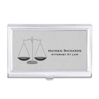 Boîtier Pour Cartes De Visite Échelles de justice de mandataire d'avocat