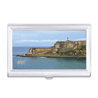 Boîtier Pour Cartes De Visite EL Morro gardant la baie de San Juan décorée d'un