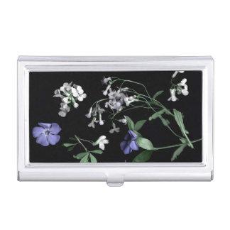 Boîtier Pour Cartes De Visite Fleurs de ressort sur le porte-cartes de carte de
