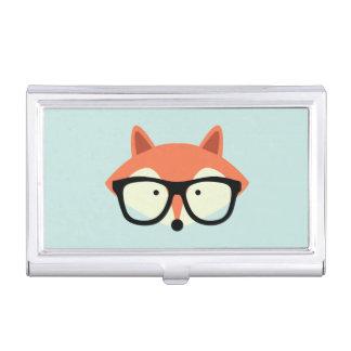 Boîtier Pour Cartes De Visite Fox rouge de hippie mignon