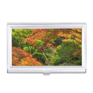 Boîtier Pour Cartes De Visite Jardins japonais en automne à Portland, Orégon 2