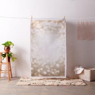 Bokeh de cuivre allume le contexte de photo de tissu
