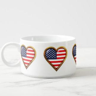 Bol À Chili Coeurs américains