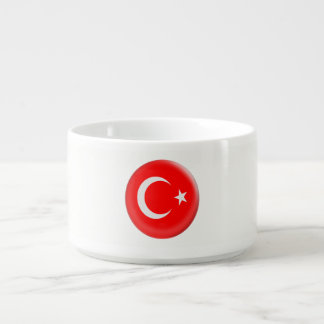 Bol À Chili Drapeau rouge de la Turquie et blanc turc
