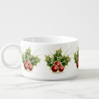 Bol Pour Chili Motif brillant de Noël de baie de houx