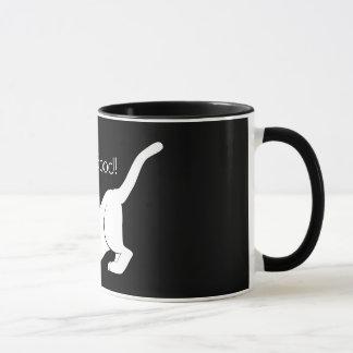 Bon bout droit félin noir et blanc mignon de chat mug