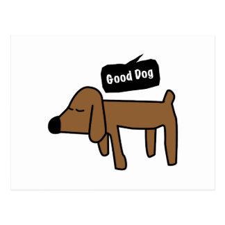 Bon chien carte postale
