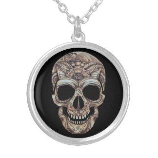 Bon collier de la mort - ton argenté moyen