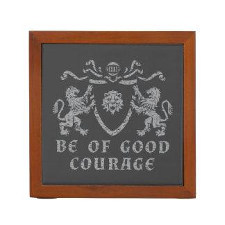 Bon organisateur héraldique de bureau de courage