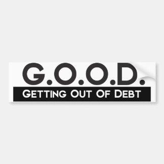 Bon sortir de la dette autocollant de voiture