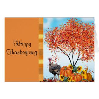 Bon thanksgiving avec la salutation à l'intérieur carte