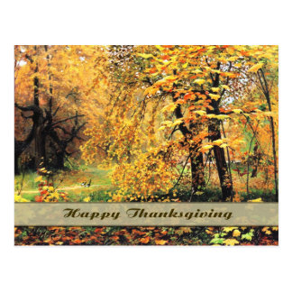 Bon thanksgiving. Carte postale de beaux-arts