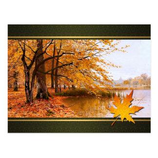 Bon thanksgiving. Carte postale de beaux-arts