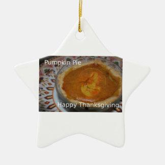 Bon thanksgiving et tarte de citrouille ornement étoile en céramique