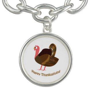 Bon thanksgiving ! La Turquie Bracelets Avec Breloques