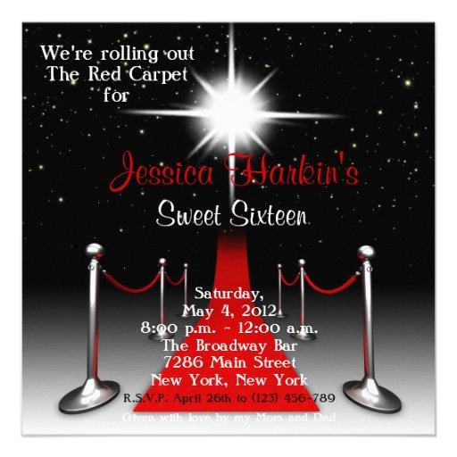 Bonbon de Hollywood de tapis rouge invitation de 1