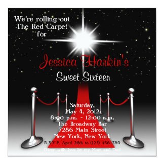 Bonbon de Hollywood de tapis rouge invitation de Carton D'invitation 13,33 Cm