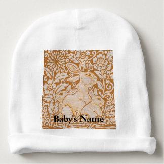 Bonbon vintage à or de casquette de calotte de bonnet pour bébé