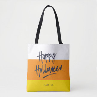 Bonbons au maïs doux Halloween heureux Tote Bag