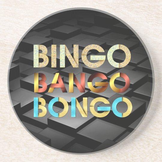 Bongo de Bango de bingo-test de PIÈCE EN T Dessous De Verres