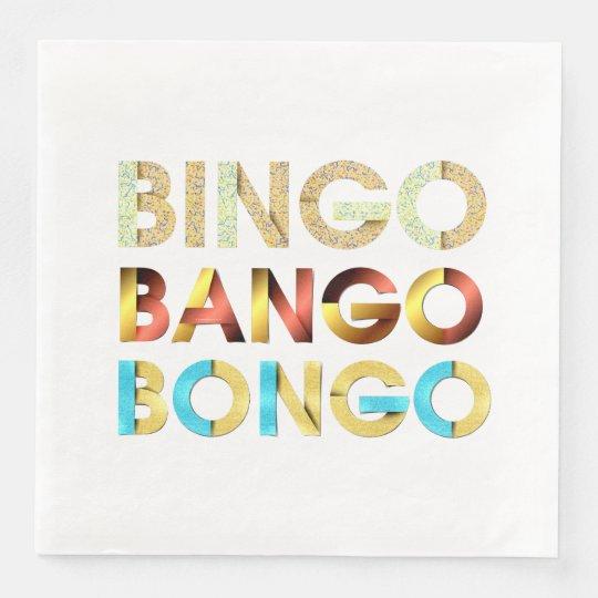Bongo de Bango de bingo-test de PIÈCE EN T Serviette En Papier
