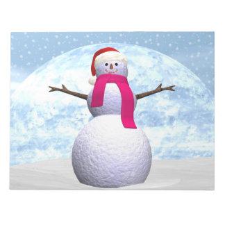 Bonhomme de neige - 3D rendent Bloc-note