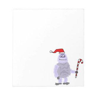 Bonhomme de neige abominable de Noël drôle Bloc-note
