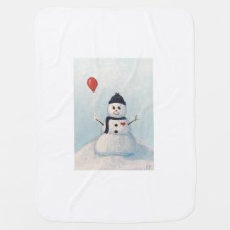 Bonhomme de neige avec un bébé Blankey de ballon Couvertures Pour Bébé