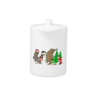 Bonhomme de neige de Bigfoot Père Noël
