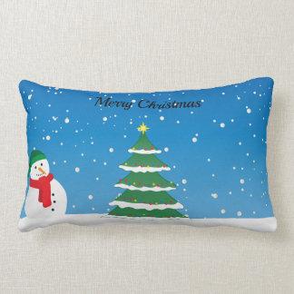 Bonhomme de neige de Joyeux Noël et coussin