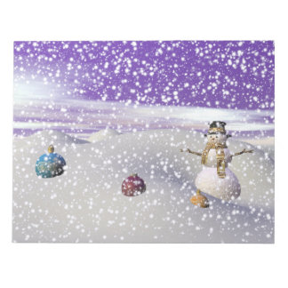 bonhomme de neige de Noël Bloc-note