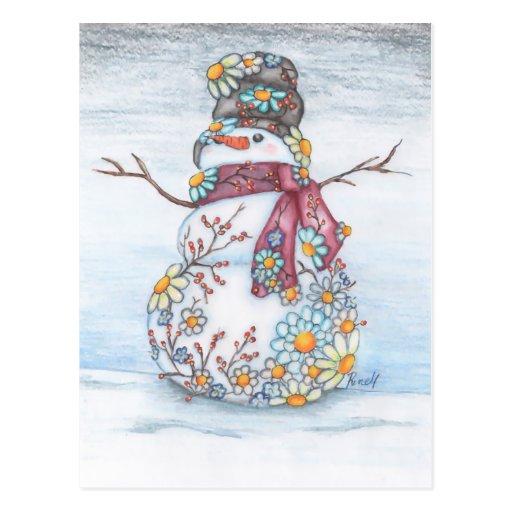 bonhomme de neige de photoscape cartes postales