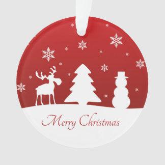 Bonhomme de neige de renne d'arbre de Noël -