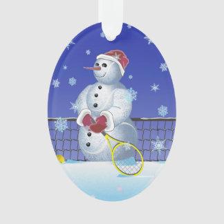 Bonhomme de neige de tennis, bonnes fêtes