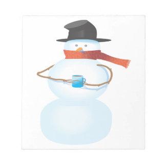Bonhomme de neige froid bloc-note