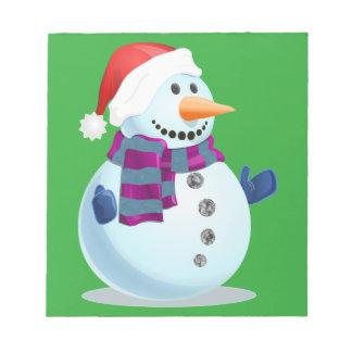 Bonhomme de neige gai bloc-note