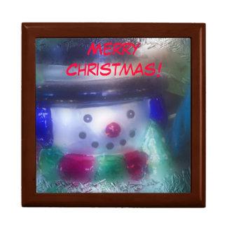 Bonhomme de neige givré de Joyeux Noël Boîte À Souvenirs