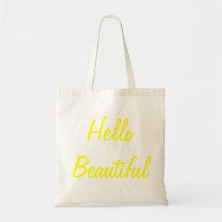Bonjour beau sac en toile budget