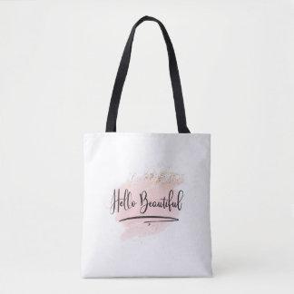 Bonjour beau sac rose d'aquarelle