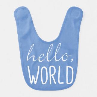 Bonjour cadeau mignon de bavoir de bébé du monde