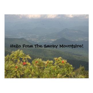 Bonjour de la carte postale fumeuse de Mts