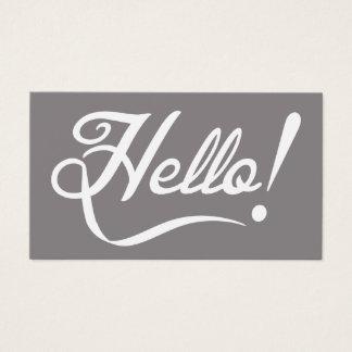 Bonjour élégant cartes de visite
