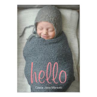 Bonjour faire-part de bébé du monde